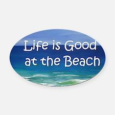 Beach Oval Car Magnet