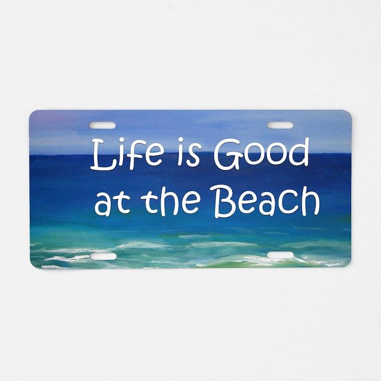 Beach Aluminum License Plate