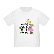 Lil' Panda Girl 4th Birthday T