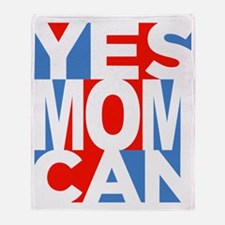 Yes Mom Can (dark) Throw Blanket