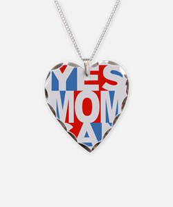Yes Mom Can (dark) Necklace