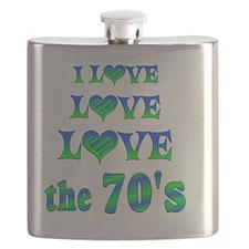 Love Love 70s Flask