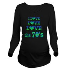 Love Love 70s Long Sleeve Maternity T-Shirt