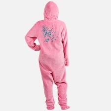 aqua bubbles Footed Pajamas