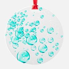 aqua bubbles Ornament