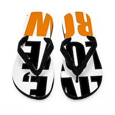live, love, row Flip Flops