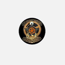 Steampunk Secret Service Badge Mini Button