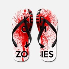 KEEP CALM AND KILL ZOMBIES Flip Flops