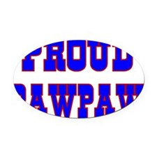 Proud Pawpaw Oval Car Magnet