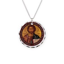 Jesus Prayer Necklace Circle Charm