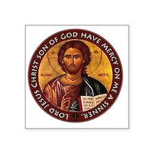 "Jesus Prayer Square Sticker 3"" x 3"""