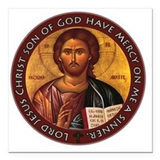 "Jesus Prayer Square Car Magnet 3"" x 3"""