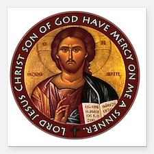 "Jesus Prayer Square Car Magnet 3"" x 3"""