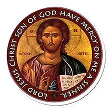 Jesus Prayer Round Car Magnet