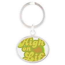 High on Life Oval Keychain