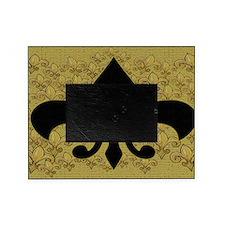 Fleur de lis bling black and gold Picture Frame