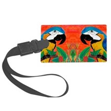 Parrot Head Luggage Tag