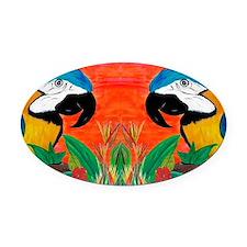 Parrot Head Oval Car Magnet