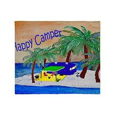 Happy Camper Throw Blanket