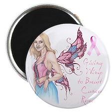 Breast Cancer Fairy dark Magnet