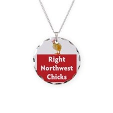 Right Northwest Chicks squar Necklace