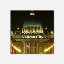 "VaticanCity_2.5x3.5_Ornamen Square Sticker 3"" x 3"""