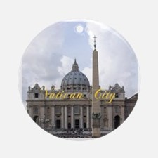 VaticanCity_6x6_apparel_Saint Peter Round Ornament