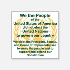 "WE THE PEOPLE OF THE UNITED Square Sticker 3"" x 3"""