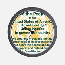 WE THE PEOPLE OF THE UNITED STATES OF A Wall Clock