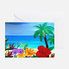 Tropical Beach Greeting Card