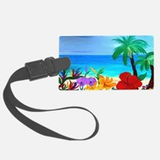 Tropical Beach Luggage Tag