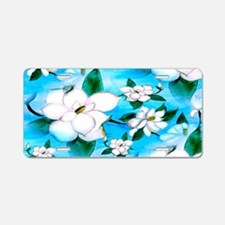 Magnoia art Aluminum License Plate