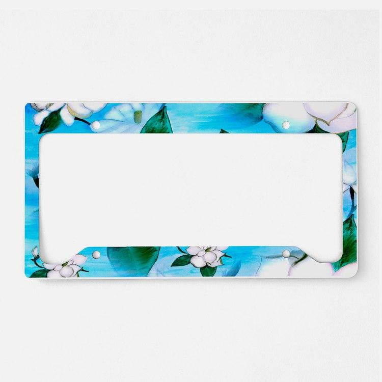 Magnoia art License Plate Holder