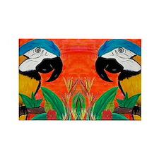 Parrot Head Rectangle Magnet