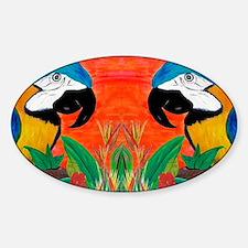 Parrot Head Sticker (Oval)