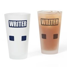 Writer Bullet-Proof Vest Drinking Glass