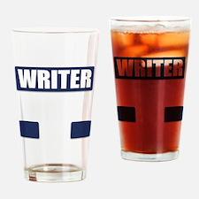 Writer Bullet-Proof Vest Drinking Glass