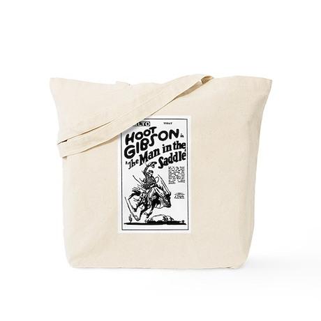 Hoot Gibson Man in Saddle Tote Bag