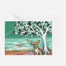 chihuahua spiritual love tree Greeting Card