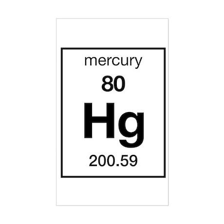 Mercury Rectangle Sticker