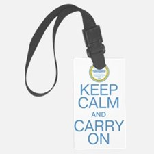 Boston Keep Calm And Carry On Luggage Tag