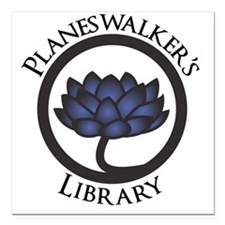 """Planeswalkers Library Lo Square Car Magnet 3"""" x 3"""""""