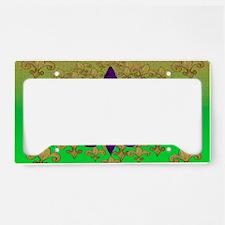 Purple fleur de lis License Plate Holder