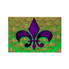 Purple fleur de lis Rectangle Magnet