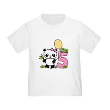Lil' Panda Girl 5th Birthday T