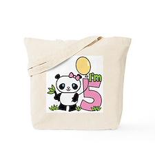 Lil' Panda Girl 5th Birthday Tote Bag