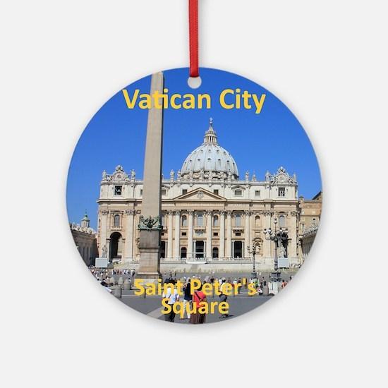 VaticanCity_8.887x11.16_iPadSleeve_ Round Ornament