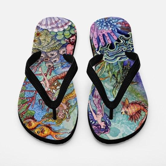 Mermaid Shower! Flip Flops