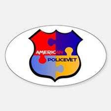 Policevet's Puzzle shield Oval Decal