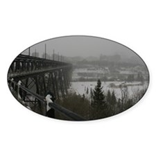 High Level Bridge on a Foggy Winter Decal